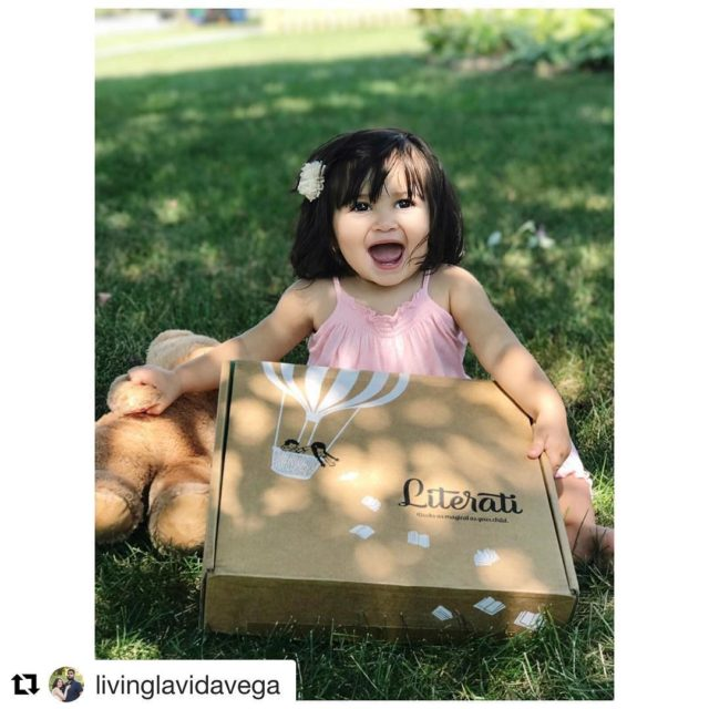 Repost livinglavidavega  Emmys 1st literati book box arrived today!hellip