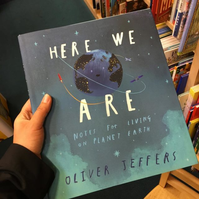 Out this week HereWeAre by OliverJeffers! Just in time toohellip