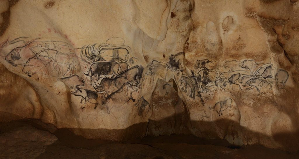 Drawings in the Chauvet-Pont-d'Arc Cave, courtesy of Ministère de la Culture, République Française