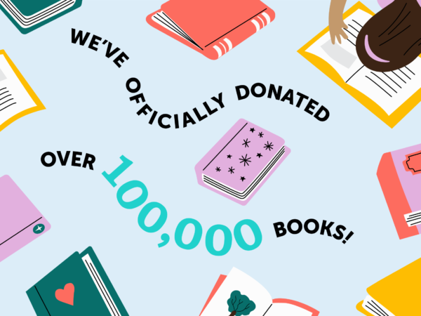 We've Donated 100,000 Books!